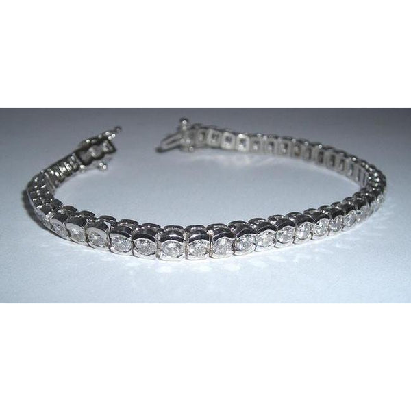 6.86 Carat Diamond Tennis Bracelet Vs Jewelry Hand Gold Tennis Bracelet