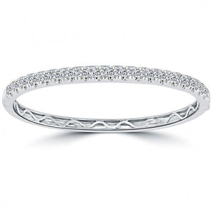 7 Ct Round Diamond Bangle White Gold Jewelry Bangle