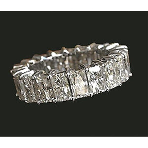 7.35 Ct. Radiant Cut Diamond Eternity Engagement Band Gold Eternity Band