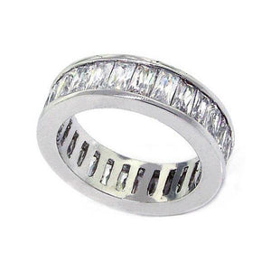 7.5 Ct. Channel Set Radiant Cut Diamond Eternity Engagement Band Gold Band