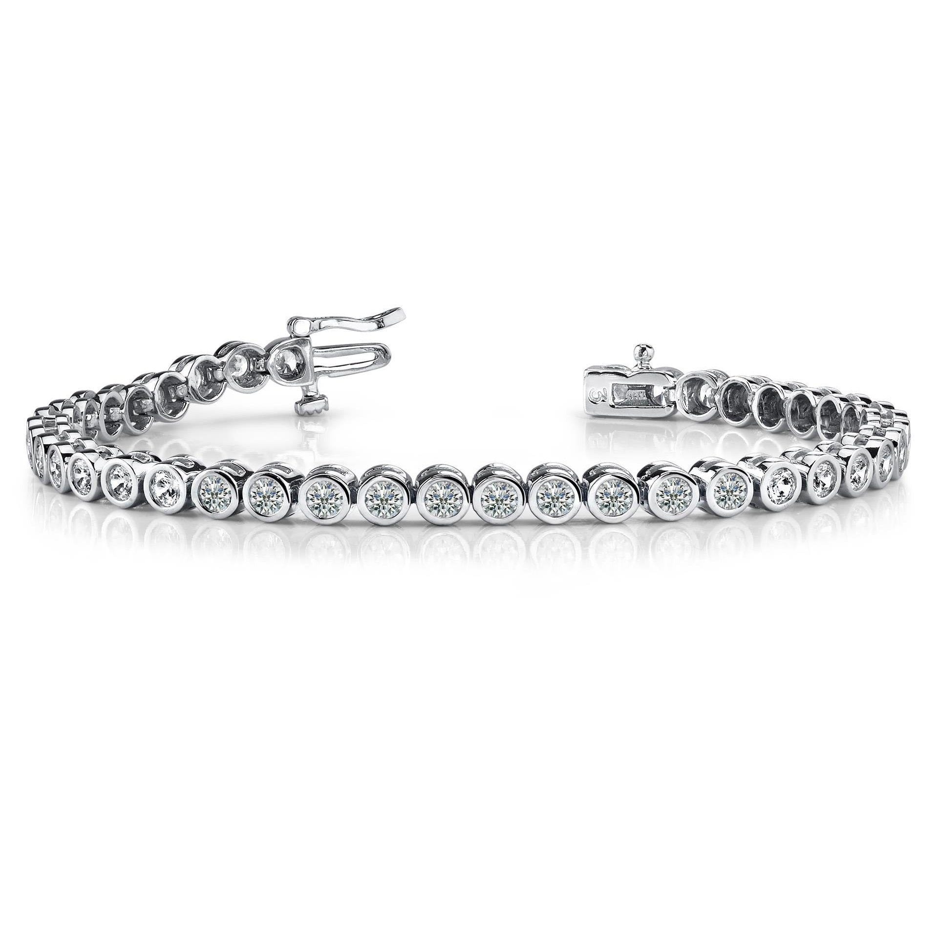 7.5 Ct Round Shape Diamond Tennis Bracelet 14K White Gold Tennis Bracelet
