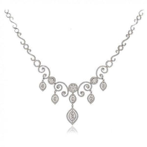 8.70 Carats Beautiful Jewelry Gift For Women Diamond Necklace And Earrings Set Necklace