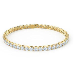 8.8 Round Diamond Tennis Bracelet F/G Vs2/Si1 44 Stones Yellow Gold 14K Tennis Bracelet