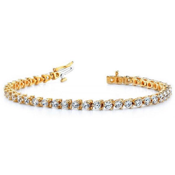9 Carats Diamonds Basic Style Yellow Gold Tennis Bracelet Tennis Bracelet
