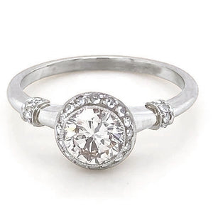 Diamond Engagement Ring 1.50 Carats Antique Style