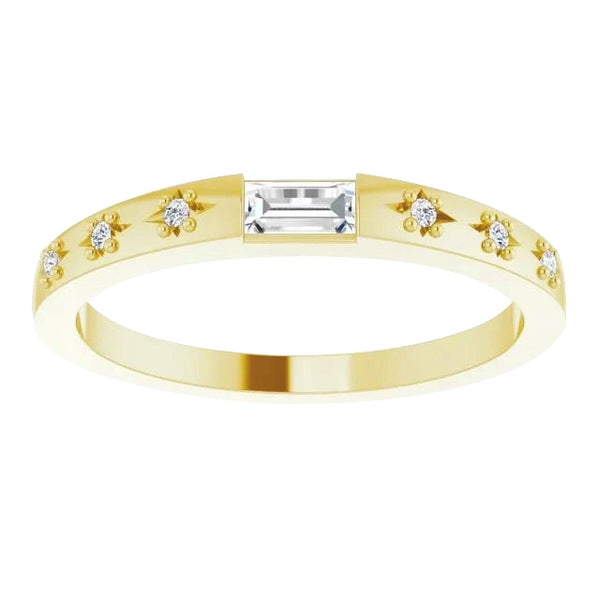 Diamond Wedding Band 0.70 Carats 14K Yellow Gold