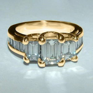 Emerald Cut Diamond Engagement Ring 3.60 Carats Ladies Jewelry New