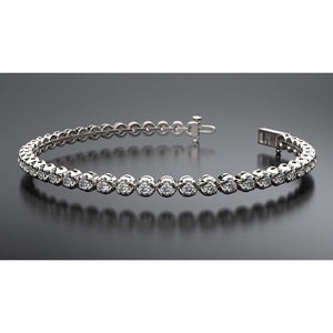8.8 Round Diamond Tennis Bracelet F/G Vs2/Si1 44 Stones White Gold 14K Tennis Bracelet