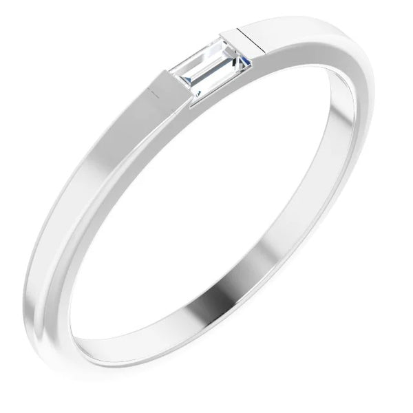 Mens Ring Wedding Band 0.30 Carats White Gold Men'S Ring