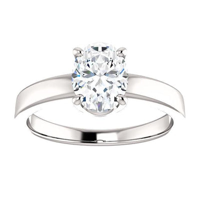 Solitaire Ring Solitaire Diamond Ring 3.50 Carats Prong Setting Jewelry