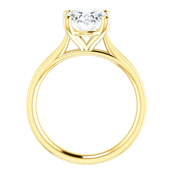 Diamond Solitaire Ring 5 Carats Women Yellow Gold Jewelry New Solitaire Ring