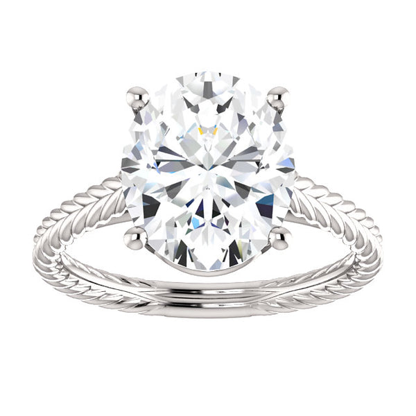 Solitaire Ring Solitaire Diamond Ring 4 Carats Filigree Women Jewelry