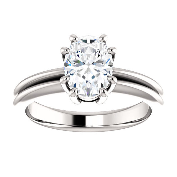 Solitaire Ring Solitaire Ring Oval Cut 5 Carats Split Shank Prong Setting Jewelry New