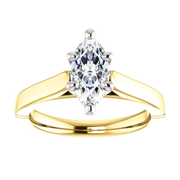 Solitaire Ring Solitaire Diamond Ring 3 Carats Split Shank Jewelry
