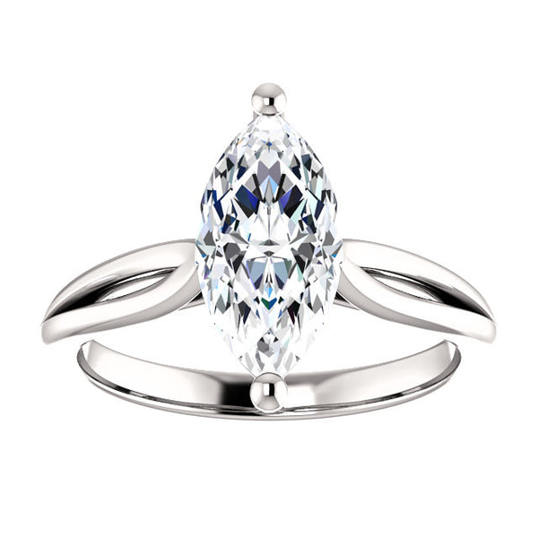 Solitaire Ring Diamond Solitaire Ring 2.50 Carats 14K White Gold