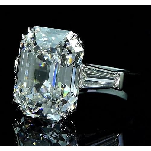Three Stone Ring Three-Stone Diamond Ring 6.70 Carats Double Claw Prong Setting New