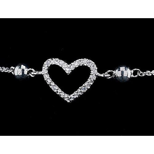 Tennis Bracelet Women Bracelet Diamond Heart Shaped 2 Carats Jewelry