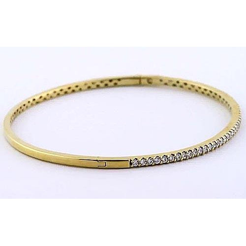 Bangle Women Diamond Bangle 5 Carats Yellow Gold 14K Jewelry New