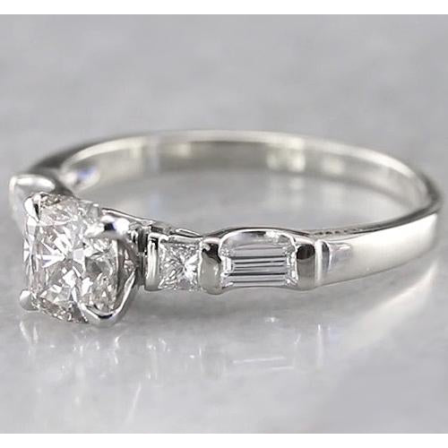 Engagement Ring Cushion Diamond Engagement Ring 1.75 Carats Women Jewelry