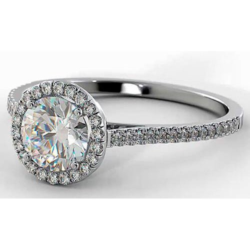 Halo Ring Diamond Engagement Ring Halo 2.75 Carats Women Jewelry