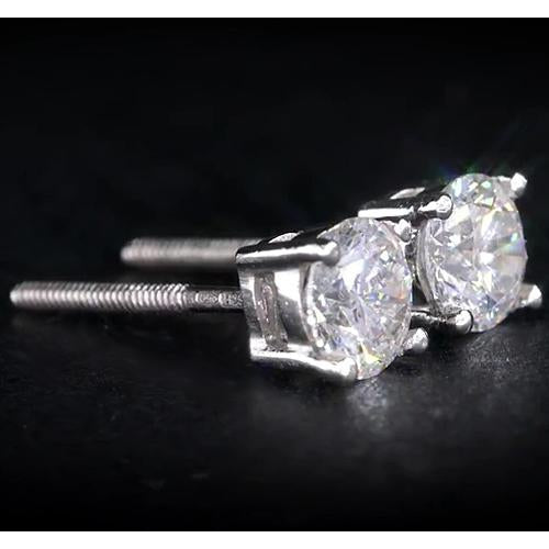 Stud Earrings 1.50 Carats Diamond Studs