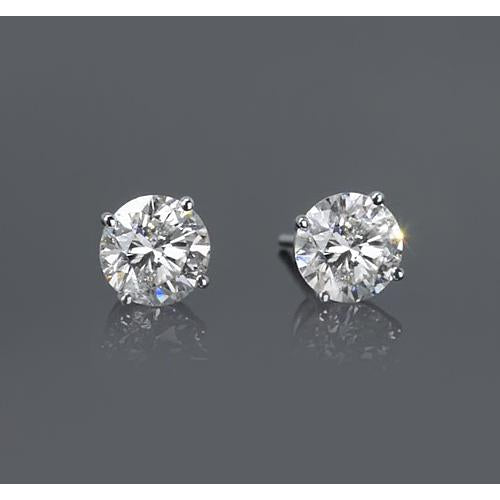 1.50 Carats Four Prong Woman Earring White Gold 14K  F VS1