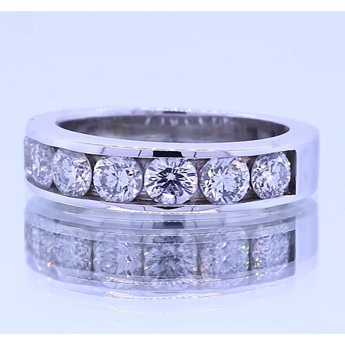 Band 1.75 Carats Round Diamond Anniversary Band Channel Set