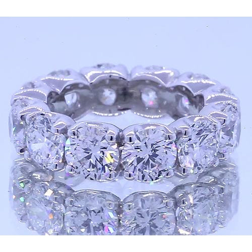 Band 6 Carats Round Diamond Anniversary Band White Gold 14K Vs1 F