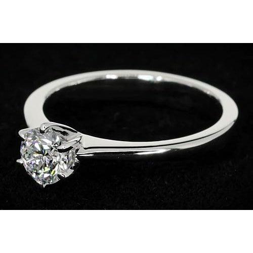 Solitaire Ring Six Prong Solitaire Round Diamond Promise Ring 1 Carat