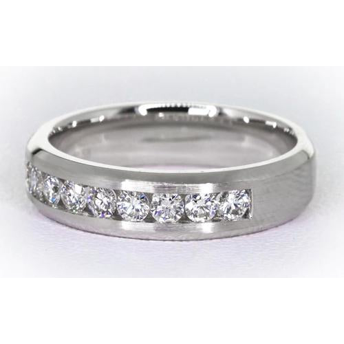 Mens Ring Channel Set Band Diamond Jewelry