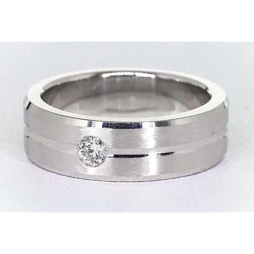 Band Brushed Finish Round Diamond Anniversary Band 0.25 Carats
