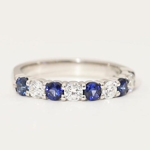 Sapphire and Diamond Anniversary Band