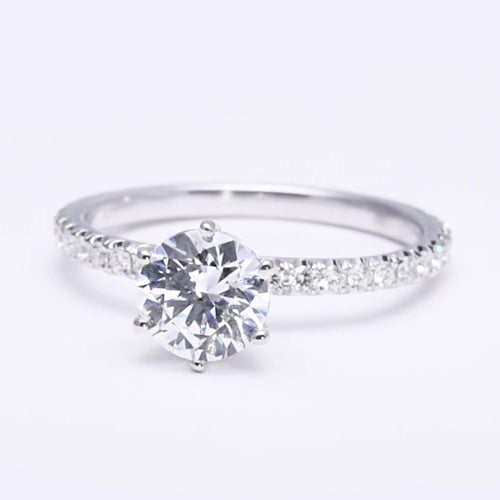 Diamond Engagement Halo Ring