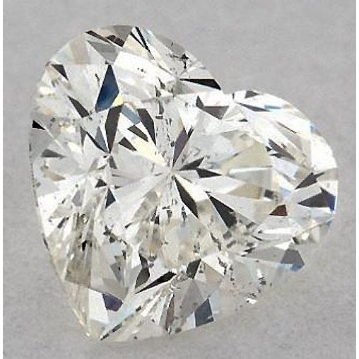 Diamond 2.75 Carats Heart Diamond Loose H Si1 Good Cut
