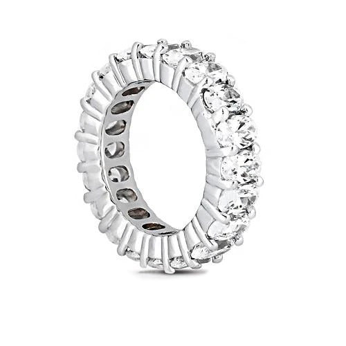 Oval Cut Diamond Eternity Engagement Band 9.5 Ct. Diamonds