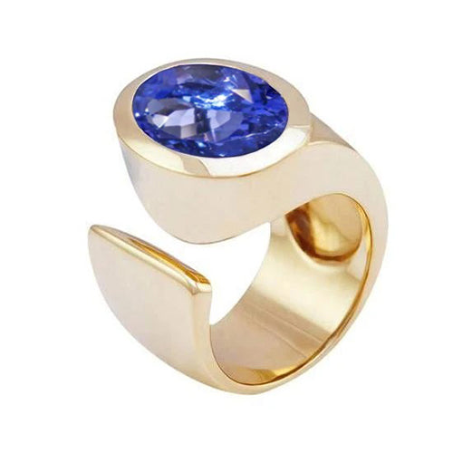 Solitaire Oval Tanzanite Aaa 2.01 Carat Ring Jewelry