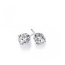 Solitaire Round Cut Diamond Stud Earring 1.5 Ct Solid White Gold 14K