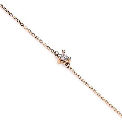 Tennis Bracelet Trilliant Shape Bracelet 1 Carat Center Stone Yellow Gold Jewelry