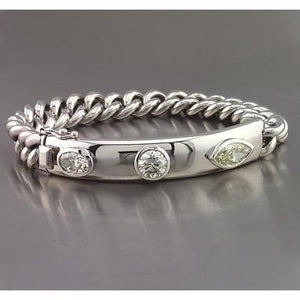 Bar Bracelet 4.50 Carats Oval, Round & Marquise Diamond Jewelry New Tennis Bracelet