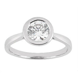 Bezel Setting Round Diamond Solitaire Ring 2.51 Ct. Solitaire Ring
