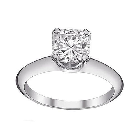 Big 3 Ct. Cushion Cut Diamond Solitaire Ring Gold White Solitaire Ring