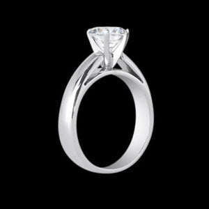 Big Diamond Cathedral Setting Women Ring White Gold 3 Ct. Ring