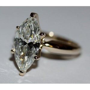 Big Marquise Diamond Solitaire Engagement Ring 3.5 Carat Solitaire Ring