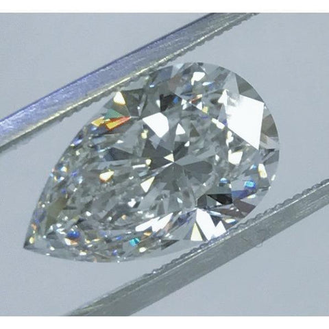 Big Natural 3.75 Carat Pear Cut G Si1 Loose Diamond New Diamond