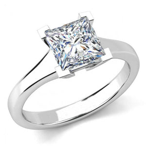 Big Princess Cut 3 Ct Solitaire Diamond Anniversary Ring White Gold Solitaire Ring