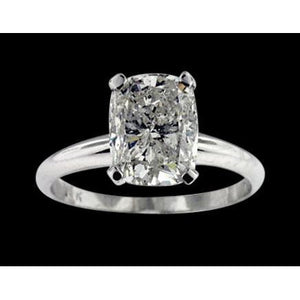 Big Radiant Cut Diamond 3.01 Carats Solitaire Ring Solitaire Ring