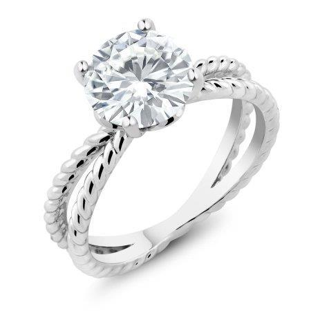Big Round Brilliant Cut 3Ct Solitaire Diamond Wedding Ring White Gold Solitaire Ring