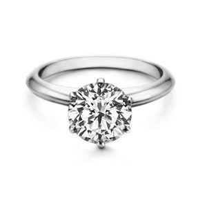 Big Sparkling D Vs1 Solitaire 2.50 Ct Diamond Wedding Ring 14K Solitaire Ring