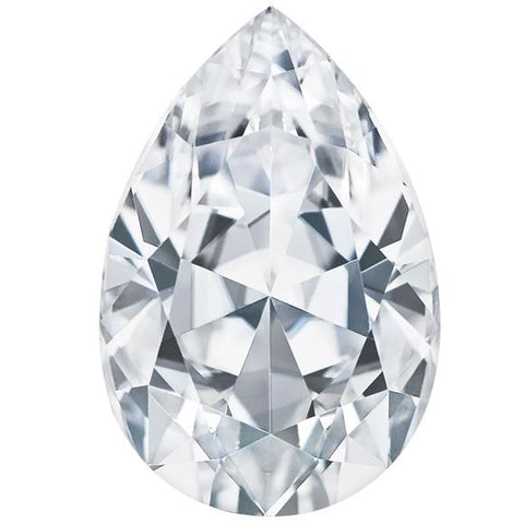 Big Sparkling G Si1 4.02 Carat Pear Cut Loose Diamond Diamond