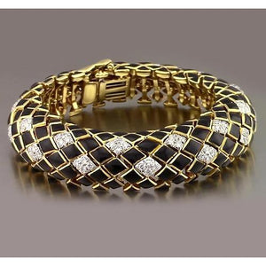 Black Yellow Gold Diamond Bracelet 4.80 Carats Jewelry F Vs1 New Tennis Bracelet
